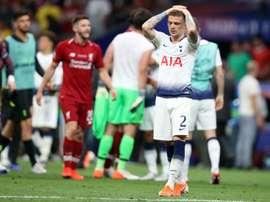 Trippier a quitté Tottenham pour aller à l'Atlético pour une somme très basse. EFE