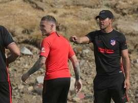 Trippier est revenu sur son adaptation à l'Atlético. EFE