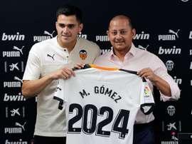 Maxi Gómez, ilusionado con jugar la Champions League. EFE/ManuelBruque