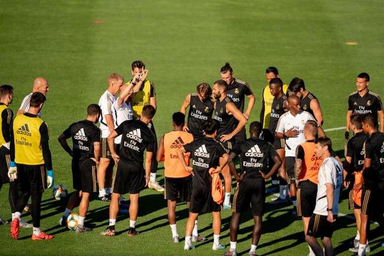 El Real Madrid se ejercitó una jornada más. EFE
