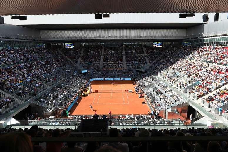 Vista general de la Caja Mágica de Madrid durante un torneo de tenis. EFE/Fernando Villar/Archivo