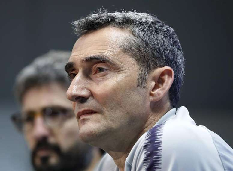 Valverde doubts that Messi will play against Borussia Dortmund. EFE