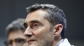 Ernesto Valverde sobre as ambições do Barcelona. EFE/ Andreu Dalmau/Archivo