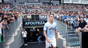 Denis Suárez, satisfait du visage de l'équipe. EFE