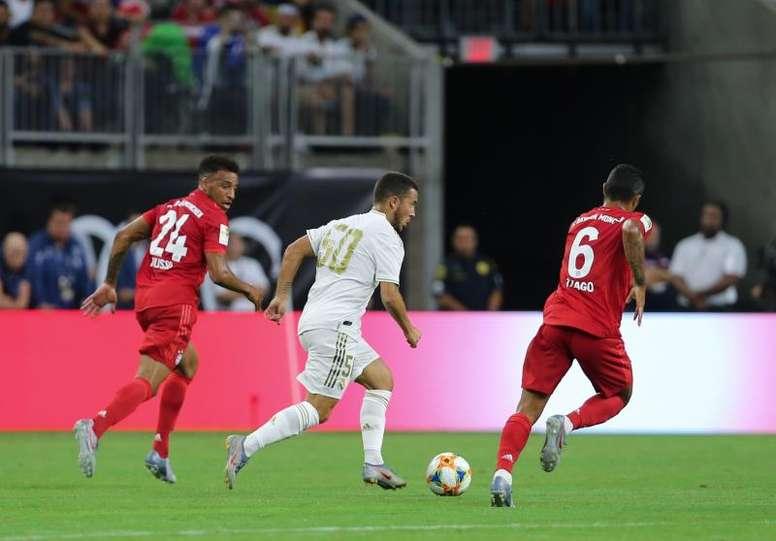 Le Bayern gâche les débuts de Hazard avec le Real et s'impose 3-1 en amical. EFE