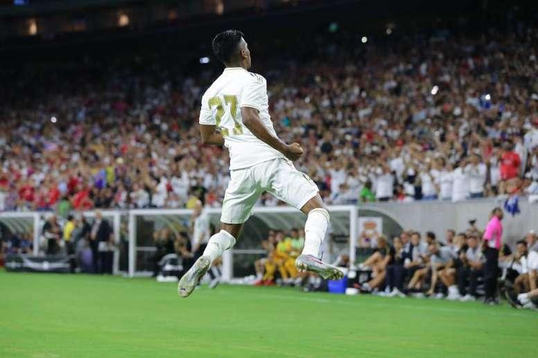 El Madrid informó de la lesión de Rodrygo. EFE/JorgeCampos