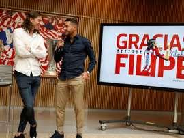 Filipe Luís dá adeus ao Atlético da Madrid. EFE