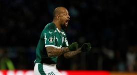 Felipe Melo demostró su devoción por Palmeiras. EFE/ Diego Parés