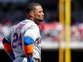 En la imagen, el jugador de los Mets de Nueva York Robinson Canó. EFE/Erik S. Lesser/Archivo