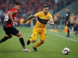 El 'mundo Boca' estalló: ¿qué vio el VAR para pitar penalti? EFE/Hedeson Alves