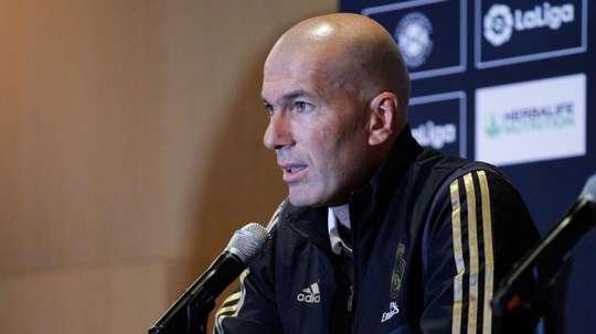 Zinedine Zidane évoque sa décision de ne pas emmener Bale en Allemagne. EFE