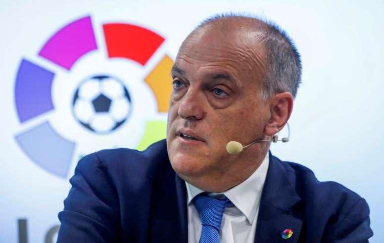 Il presidente della Liga Tebas. EFE