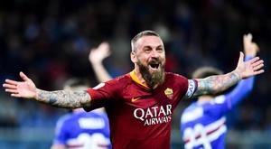 De Rossi pode voltar a Roma como técnico. EFE/Simone Arveda/Archivo