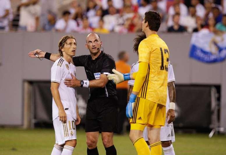 Luka Modric continuará en el Bernabéu. EFE