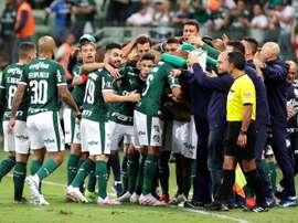 Palmeiras dejó en bandeja el liderato a Santos. EFE