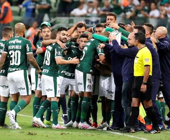 Palmeiras vence Godoy Cruz e carimba a passagem aos 'quartos' da Libertadores. EFE