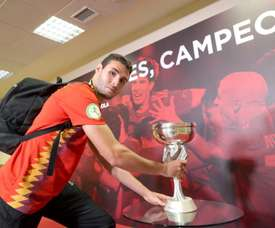 Séville tente Abel Ruiz. EFE/Kiko Huesca