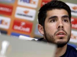 Pozuelo y la felicidad por representar al fútbol español en el All Star. EFE/SalvadorSas