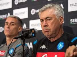Ancelotti falou em coletiva sobre situação de Neymar e James. EFE