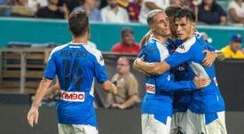 Habrá multa económica para los jugadores del Nápoles. EFE