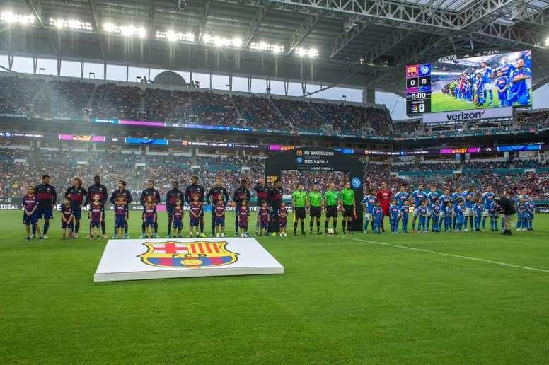 El Barcelona se impuso al Nápoles. EFE