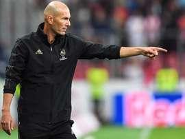 Les doutes de Zidane pour le onze de départ face à la Roma. EFE