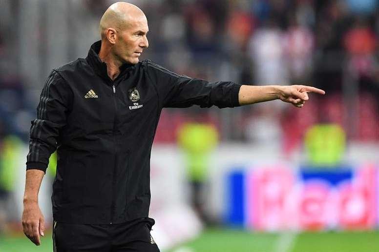 O grande objetivo de Zidane é o Espanhol. EFE/EPA/Christian Bruna