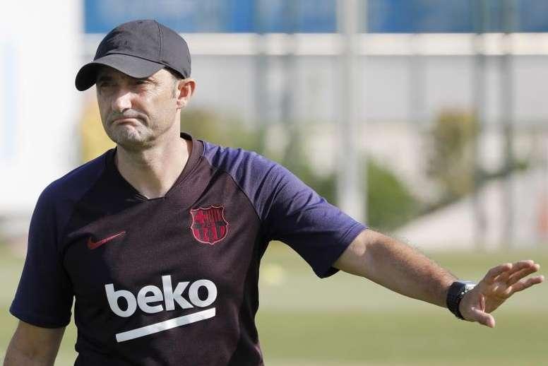 Valverde analizó la situación de la plantilla del Barcelona. EFE