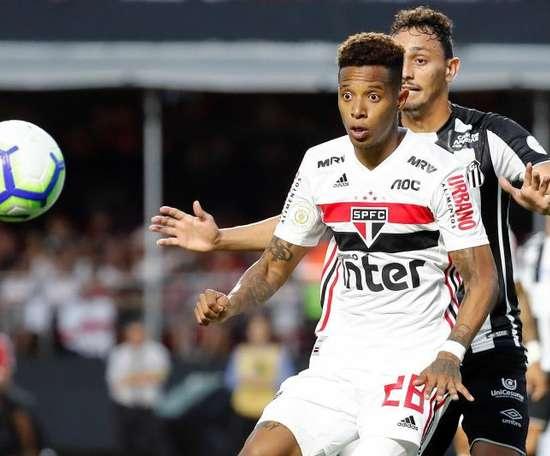 Os gols da vitória do São Paulo sobre o Santos. EFE