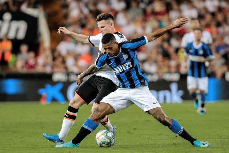 El lateral brasileño disputó 12 encuentros la pasada temporada en el Inter. EFE
