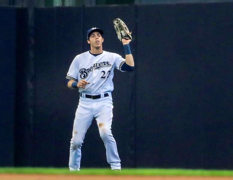 En la imagen, el jugador Christian Yelich de los Cerveceros de Milwaukee. EFE/Tannen Maury/Archivo