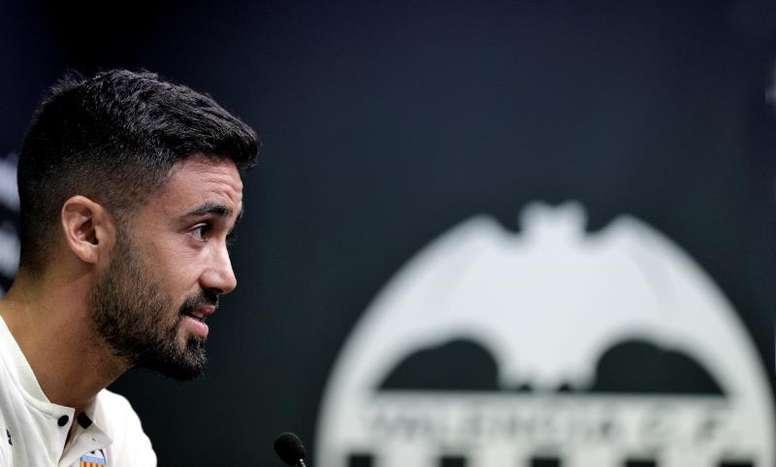 Costa, orgulloso de regresar al club de su infancia. EFE/ManuelBruque