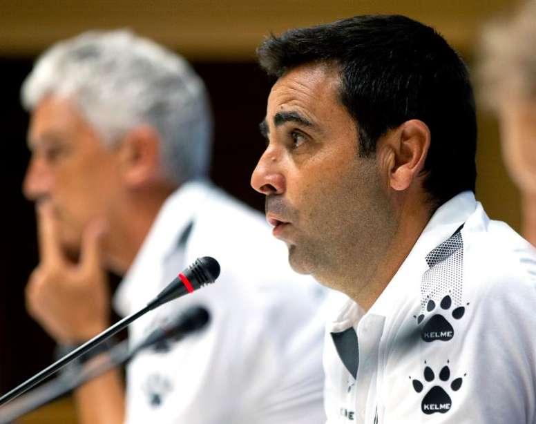 David Gallego no quiere despistes. EFE/Enric Fontcuberta