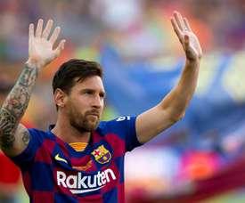 Messi está descartado para a estreia. EFE/Enric Fontcuberta/Archivo