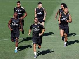 Os seis lesionados do Real Madrid. EFE/Juan Carlos Hidalgo