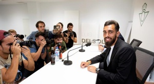 Borja Iglesias eager to get started. AFP