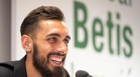 Borja Iglesias analizó la situación del equipo. EFE