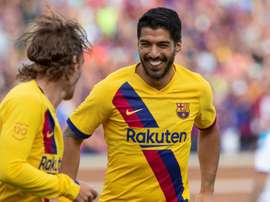 Luis Suárez se lesionou, mas foi convocado. EFE/ Rena Laverty/Archivo