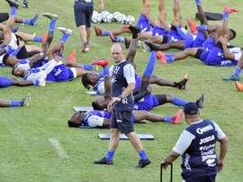 Honduras jugará amistosos contra Puerto Rico y Chile en septiembre. EFE/JoseValle