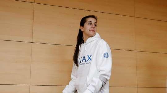 La jugadora de bádminton Carolina Marín. EFE/Juan Carlos Hidalgo/