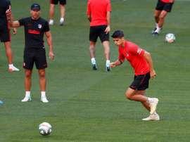 A estreia do novo centro de treinamento do Atlético. EFE/Chema Moya