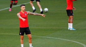 Atlético de Madrid, pronto para a largada. EFE/Chema Moya
