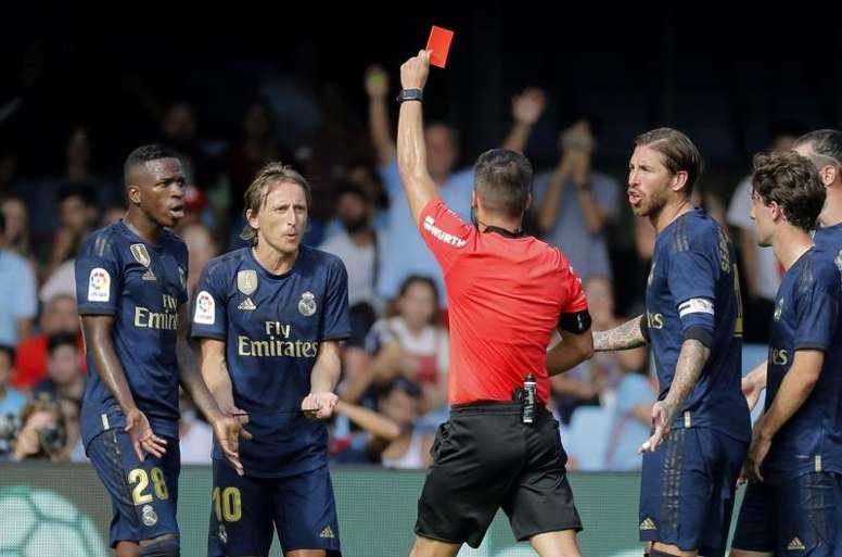 Modric vio la primera roja de la Liga. EFE