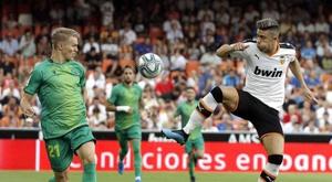 Valencia have missed half of their last six La Liga penalties. EFE