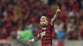 Flamengo confirmou lesão na coxa direita de Gabigol. EFE/Marcelo Sayão/Arquivo