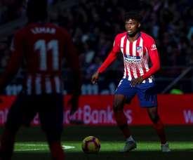 O meio de campo do Atlético, Thomas se destaca em partida contra o Real Madrid. EFE /Rodrigo Jimenez