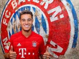 As boas-vindas do Bayern ao brasileiro. AFP