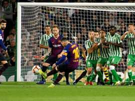 Le groupe du FC Barcelone pour affronter le Betis Séville. AFP
