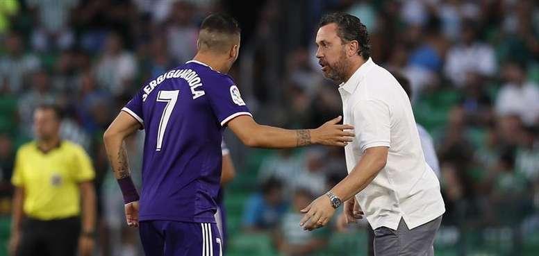 Sergio, encantado con el partido del Valladolid. EFE
