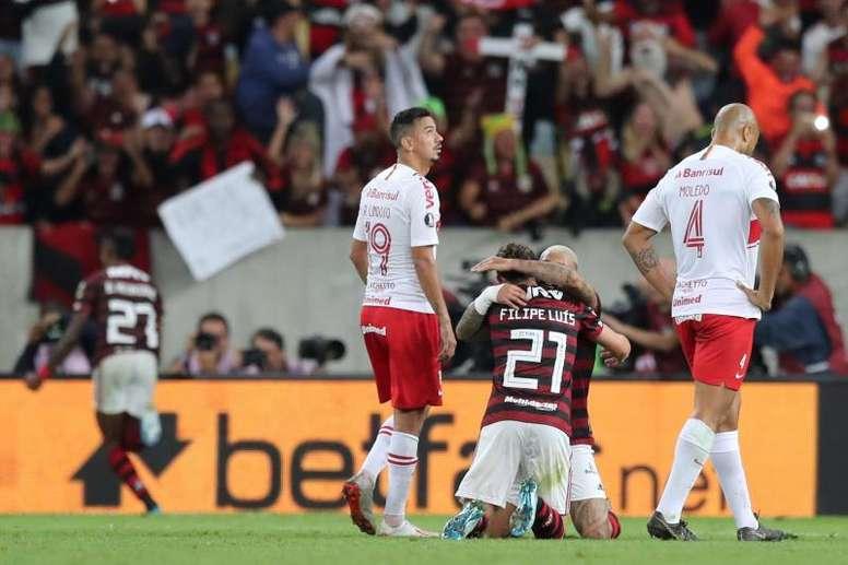 Veja os gols de Flamengo 2x0 Internacional, pela Libertadores. EFE